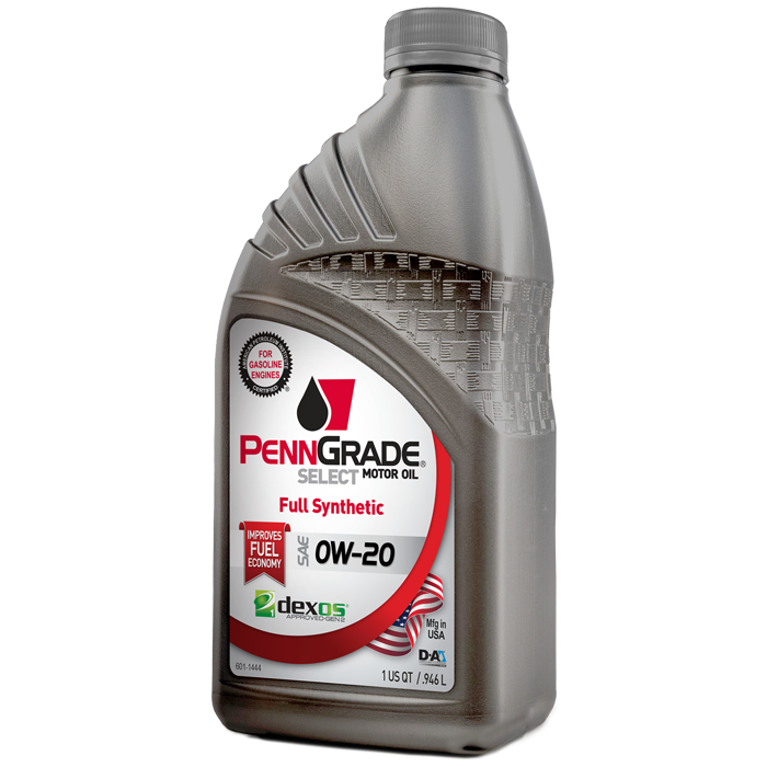 penngrade select motor oil 5w-20